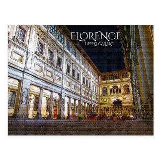 Florence, Uffizi Gallery Postcard