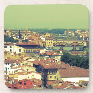 Florence view- bridge of gold/golden bridge beverage coaster