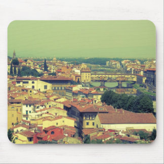 Florence view- bridge of gold/golden bridge mousepad