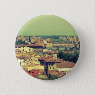 Florence view- bridge of gold/golden bridge pinback button