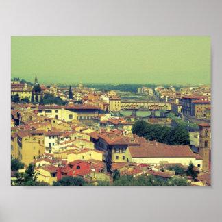 Florence view- bridge of gold/golden bridge poster