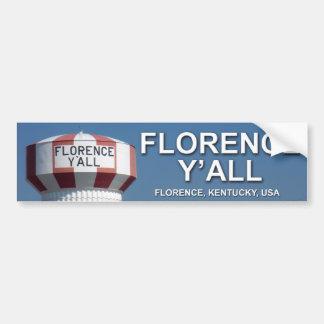 Florence Y'all Bumper Sticker Car Bumper Sticker