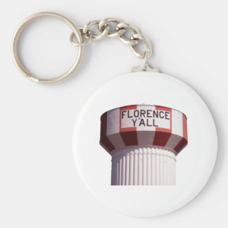 Florence Y'all Water Tower Basic Round Button Keychain