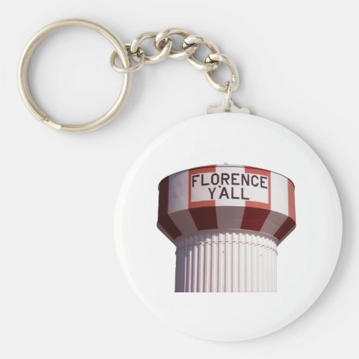 Florence Y'all Water Tower Keychain