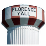 """Florence Y'all Water Tower Sculpture<br><div class=""""desc"""">Celebrate the most famous landmark in Florence with this great Florence Y'all Water Tower photo sculpture!</div>"""