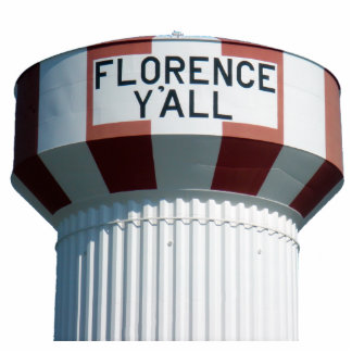 Florence Y'all Water Tower Sculpture Photo Cut Out