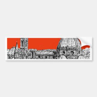 Florencia anaranjada brillante pegatina para auto