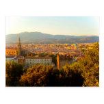 Florencia antes de la puesta del sol tarjetas postales