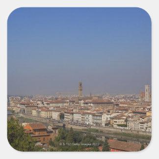 Florencia de 'Piazzale Michelangelo Calcomanía Cuadrada