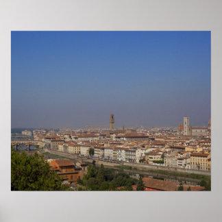 Florencia de 'Piazzale Michelangelo Póster