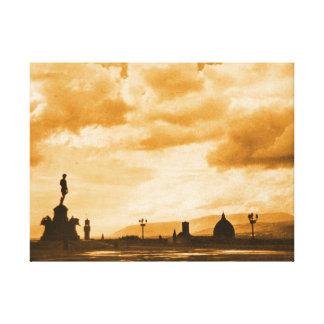 Florencia de Piazzale Miguel Ángel - puesta del so Impresión En Lona Estirada