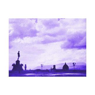 Florencia de Piazzale Miguel Ángel - púrpura Lona Estirada Galerías