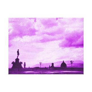 Florencia de Piazzale Miguel Ángel - rosa Lona Envuelta Para Galerias