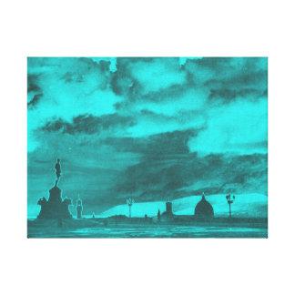 Florencia de Piazzale Miguel Ángel - turquesa Impresion De Lienzo