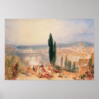 Florencia de San Miniato cercano, 1828 Póster