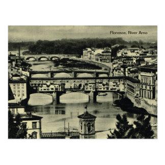 Florencia, el río Arno Tarjeta Postal
