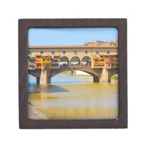 Florencia - Firenze, vecchio de Ponte Caja De Regalo De Calidad