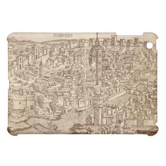 Florencia, grabar en madera medieval iPad mini protector