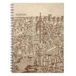 Florencia, grabar en madera medieval libreta