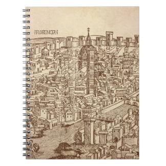 Florencia grabar en madera medieval libreta