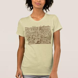 Florencia, grabar en madera medieval camiseta