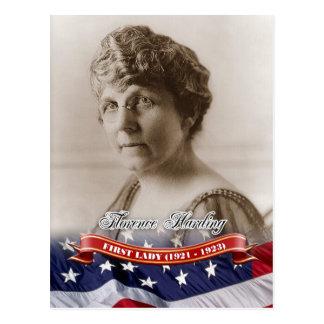 Florencia Harding, primera señora de los E.E.U.U. Postal