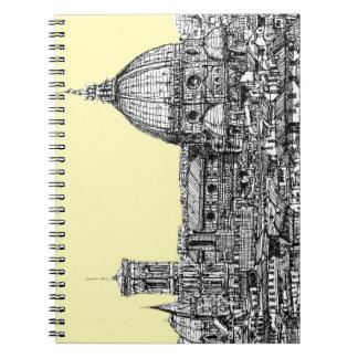 Florencia Italia en crema Cuadernos