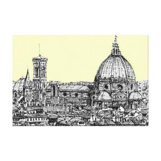 Florencia Italia en crema Lona Envuelta Para Galerias