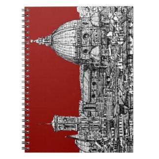Florencia Italia en rojo Libreta