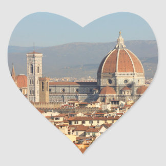 Florencia, Italia Calcomanía De Corazón