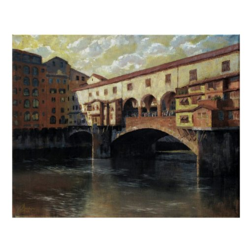 Florencia, Italia, Ponte Vecchio Poster