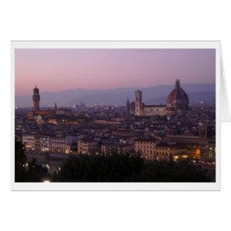 Florencia, Italia - visión desde Piazzale Miguel Tarjeta De Felicitación
