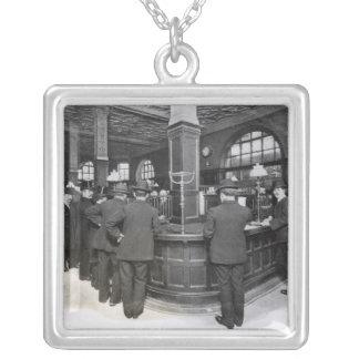 Florentine Bank Square Pendant Necklace