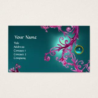FLORENTINE BAROQUE MONOGRAM GEM blue Business Card