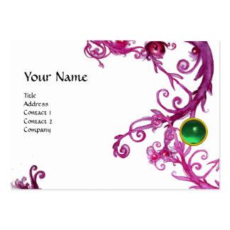 FLORENTINE BAROQUE MONOGRAM GEM green Large Business Cards (Pack Of 100)