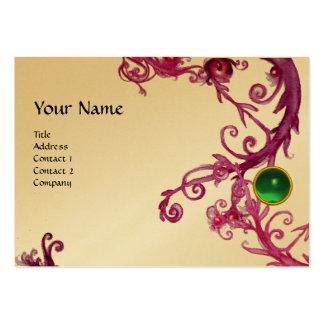 FLORENTINE BAROQUE MONOGRAM GEM green purple Large Business Cards (Pack Of 100)