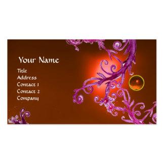 FLORENTINE BAROQUE MONOGRAM GEM orange Double-Sided Standard Business Cards (Pack Of 100)