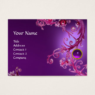 FLORENTINE BAROQUE MONOGRAM GEM purple amethyst Business Card