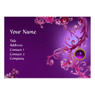 FLORENTINE BAROQUE MONOGRAM GEM purple amethyst Large Business Cards (Pack Of 100)