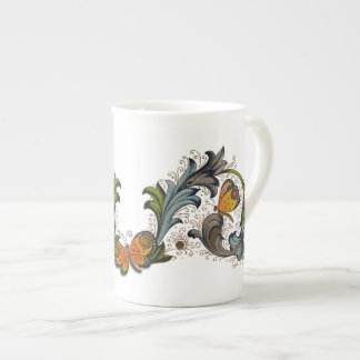 Florentine Butterfly & Flowers China Mug Tea Cup