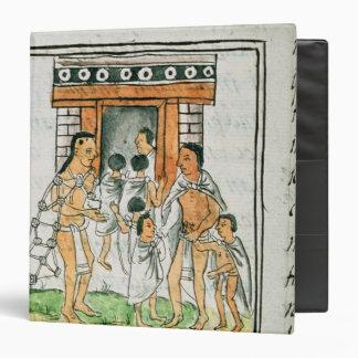 Florentine Codex' by Bernardino de Sahagun 3 Ring Binder