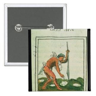 Florentine Codex' by Bernardino de Sahagun Button