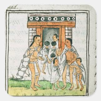 Florentine Codex' by Bernardino de Sahagun Square Sticker
