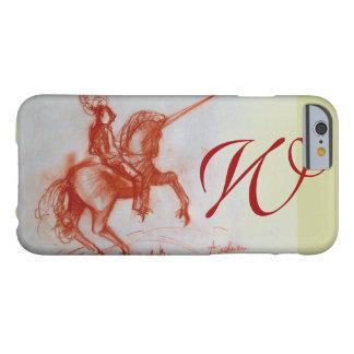 FLORENTINE  KNIGHT ON HORSEBACK monogram Barely There iPhone 6 Case