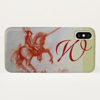 FLORENTINE  KNIGHT ON HORSEBACK monogram iPhone X Case