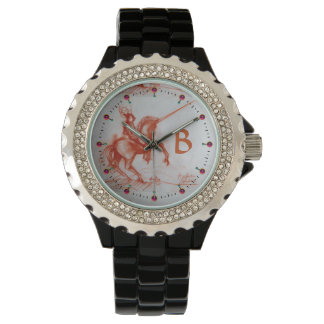 FLORENTINE  KNIGHT ON HORSEBACK monogram Wristwatch