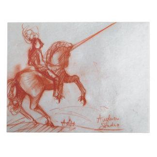 FLORENTINE KNIGHT ON HORSEBACK NOTEPAD