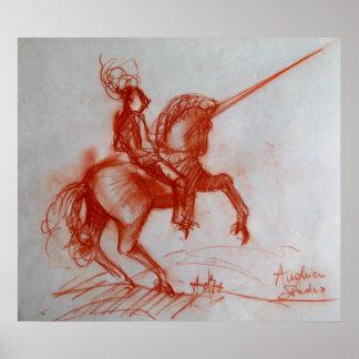 FLORENTINE  KNIGHT ON HORSEBACK POSTER
