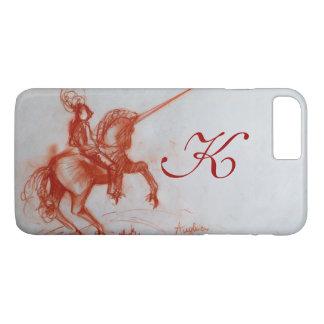 FLORENTINE  KNIGHT ON HORSEBACK Sepia Monogram iPhone 8 Plus/7 Plus Case