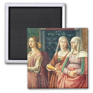 Florentine Ladies, from the Birth of St. John the Fridge Magnet